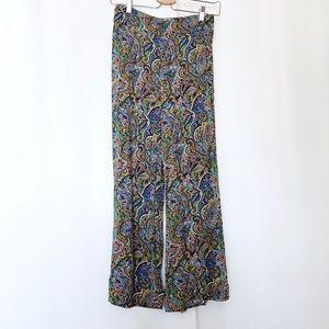 Zara paisley printed wide leg pants